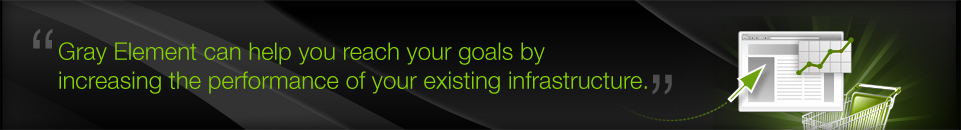 Gray Element can help you reach your goals by increasing the performance of your existing infrastructure